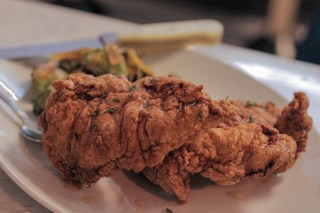 Buttermilk Fried Chicken w/ honey and thyme