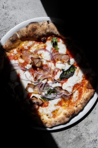 Red Smoke w/ San Marzano, mozzarella, and red onions
