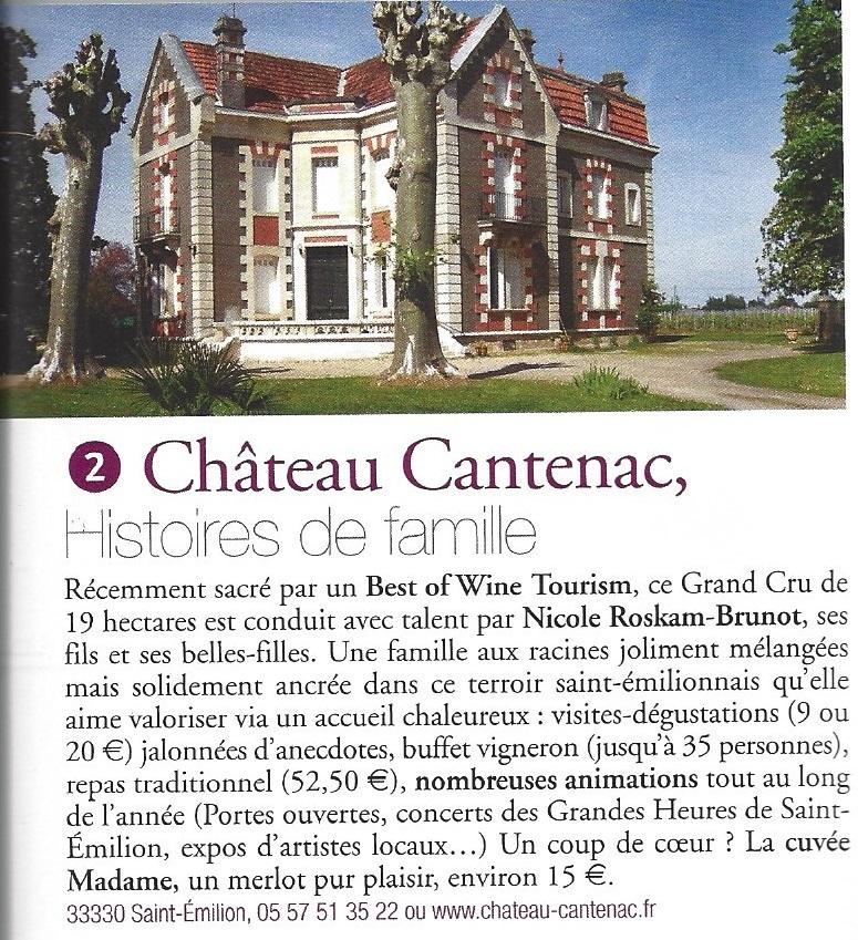 Terre de Vins 45 Circuits Oenotourisme Chateau Cantenac Art