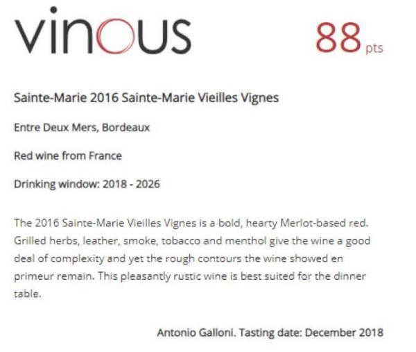 Vente vin bordeaux en ligne, vinous noté