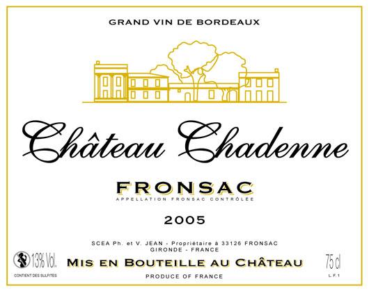 Étiquette Château Chadenne