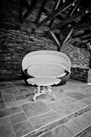 salon de détente dans le pool house