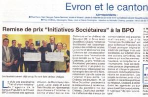 Prix BPO Courrier de la Mayenne