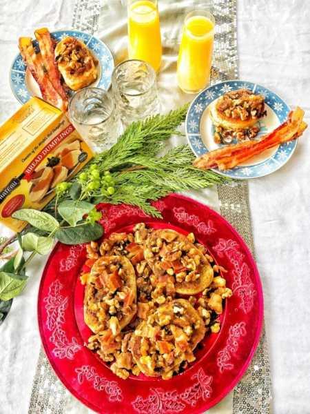 bacon, walnuts, bread dumplings