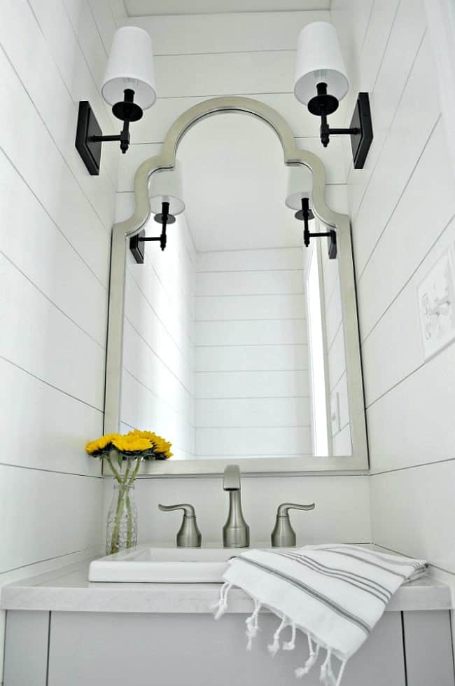 small powder room reveal chatfield court