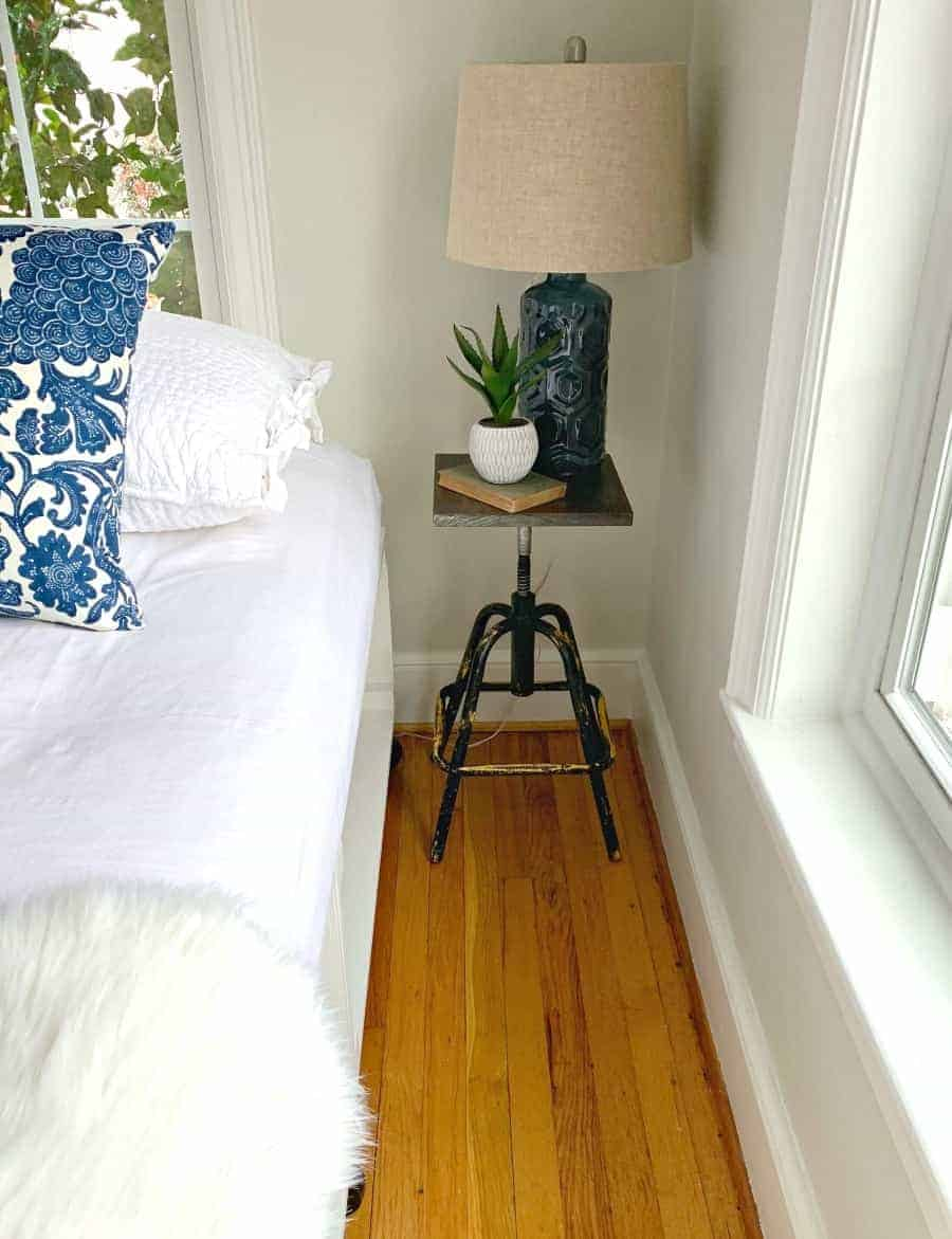 Diy Nightstand From An Old Stool The House Of Wood