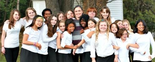 leandra with choir