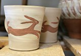 Rabbits running for the kiln