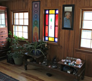 Tony's father built this meditation center as a gift