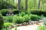 Dorrie's gardens are works of art - photo Bett Foley