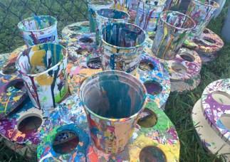 Critterville paints at ClydeFEST 2016.