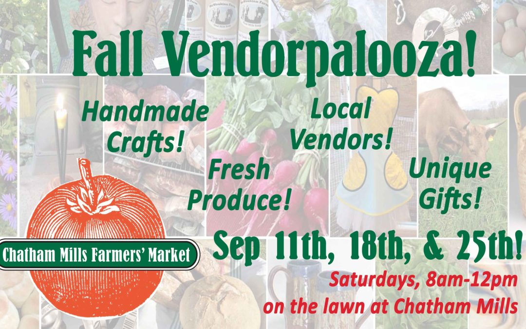 Saturday, September 25th, from 8am to 12pm!