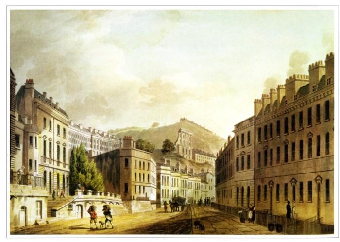 Tòa nhà Paragon nơi Jane Austen từng sống ở Bath vào năm 1801-1805.