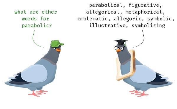 Learn English word Parabolic birds chatsifieds