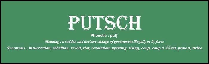 Learn English word putsch usage