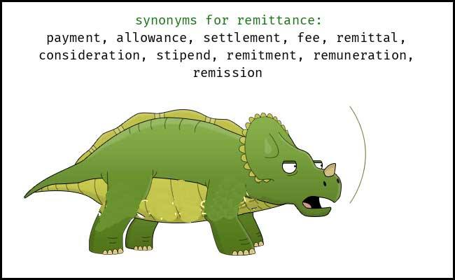 Learn remittance Meaning and Synonyms