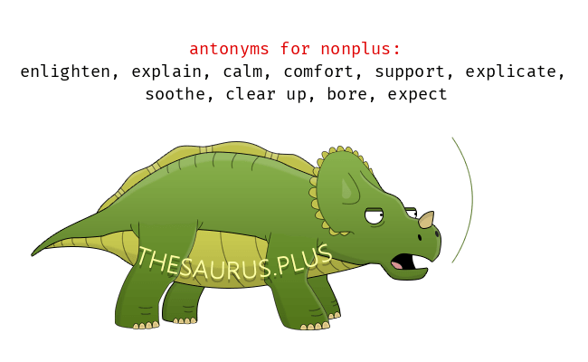 NONPLUS Meaning NONPLUS Etymology NONPLUS Synonyms and Antonyms dinosaurChatsifieds
