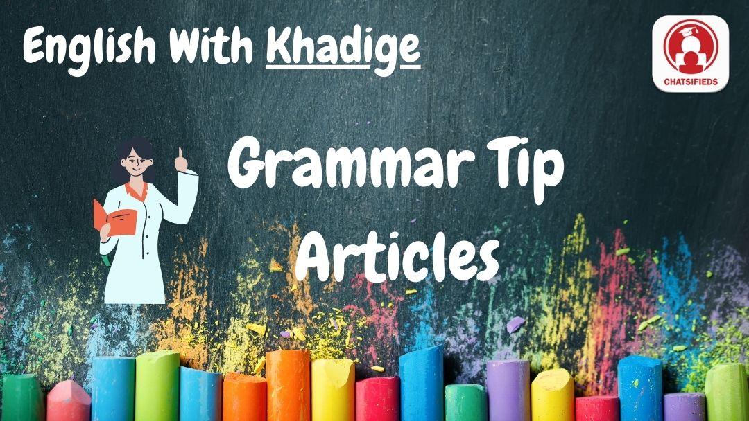 Articles in English Grammar Test