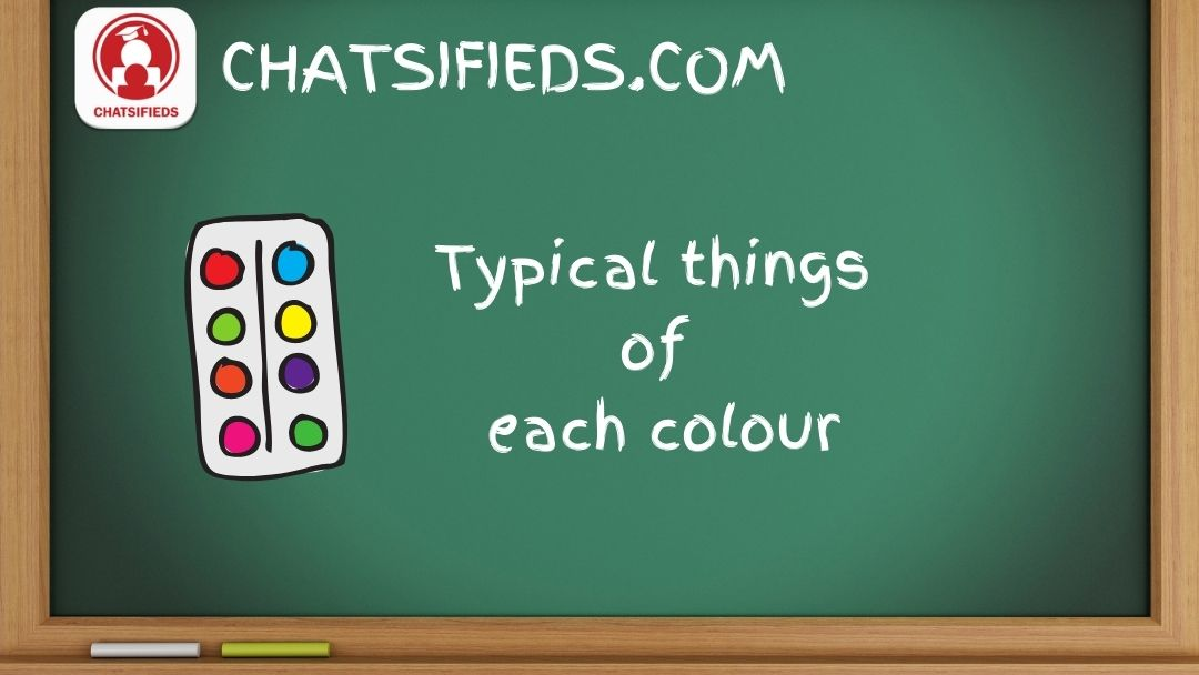 Typical things of each color in English Test