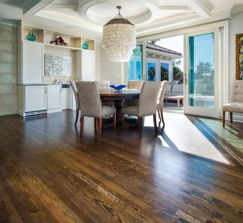 dining area with wood floor | Chattanooga Home Inspector | room redesign Chattanooga
