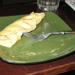 Crepe-a-licious (Crepes with creamy chicken and mushroom filling)