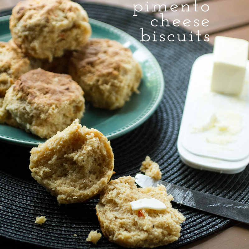pimento cheese biscuits with text