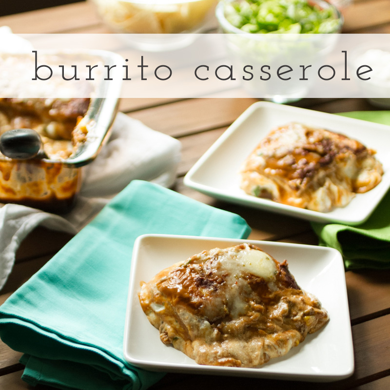 Burrito casserole, also known as Mexican lasagna, is a crowd-pleasing weeknight meal that can be customized for whatever your family's tastes are! | recipe from Chattavore.com