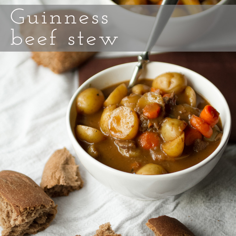 This beef stew with Guinness may not be as good as my grandmother's, but it's rich, warm, and comforting - and only takes one pot. | recipe from Chattavore.com