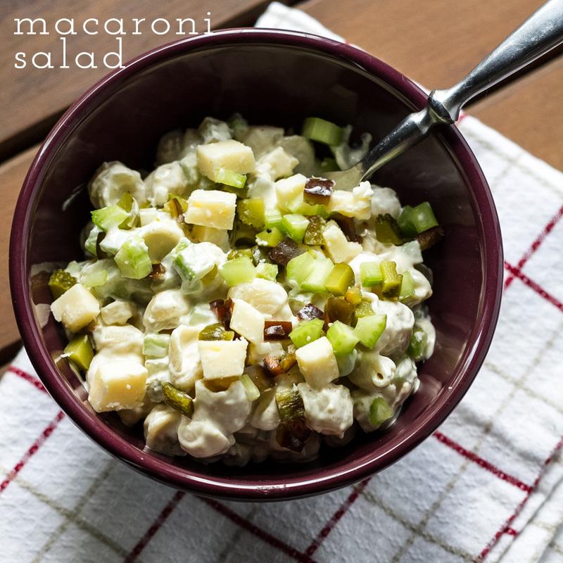 This classic macaroni salad is another treasure from my grandmother's collection. It's easy and just a little different from the norm. | recipe from Chattavore.com