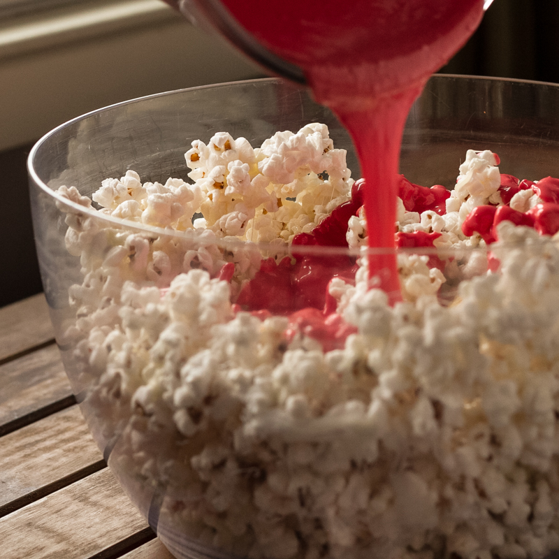 peppermint bark popcorn | chattavore