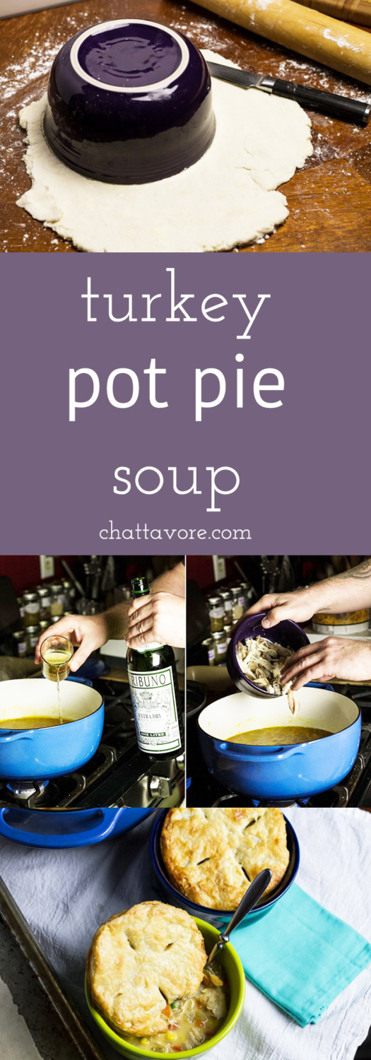 If you're looking for a delicious way to your repurpose Thanksgiving leftovers, turkey pot pie soup is a perfect way to go!