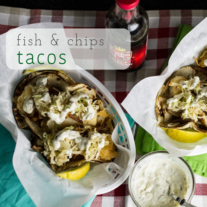 Fish and chips tacos blend two of my favorites - fish & chips and fish tacos - into one delicious handheld meal, complete with tartar sauce! | recipe from Chattavore.com