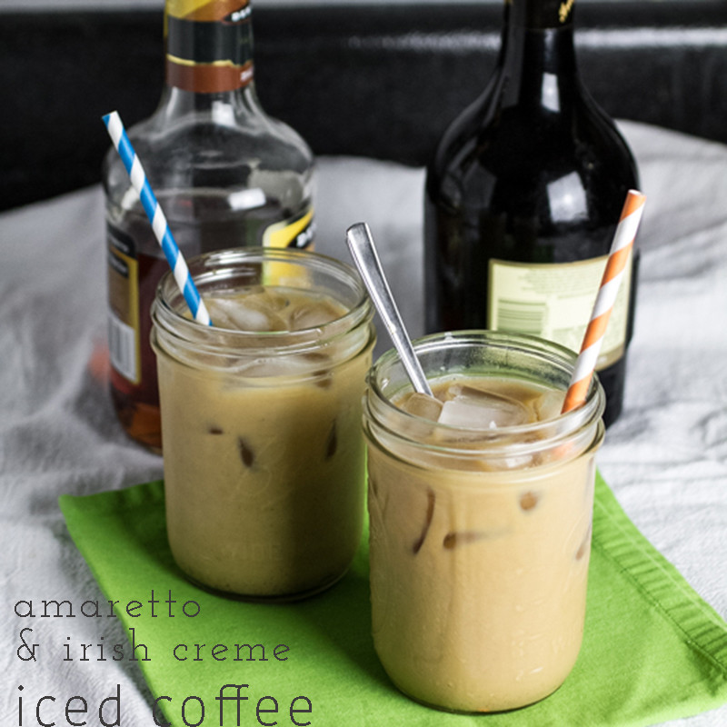 In the summertime, drinking coffee during the daytime can be a bit problematic, but that problem is easily solved with this amaretto & irish creme #IcedCoffee | chattavore.com