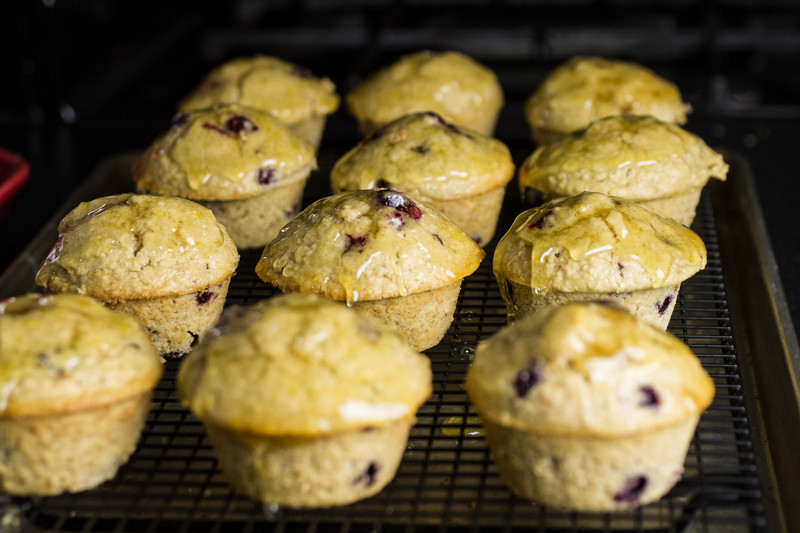 "Blueberry oatmeal muffins help you get around the whole ""cake for breakfast"" concept because they're packed with oats! 