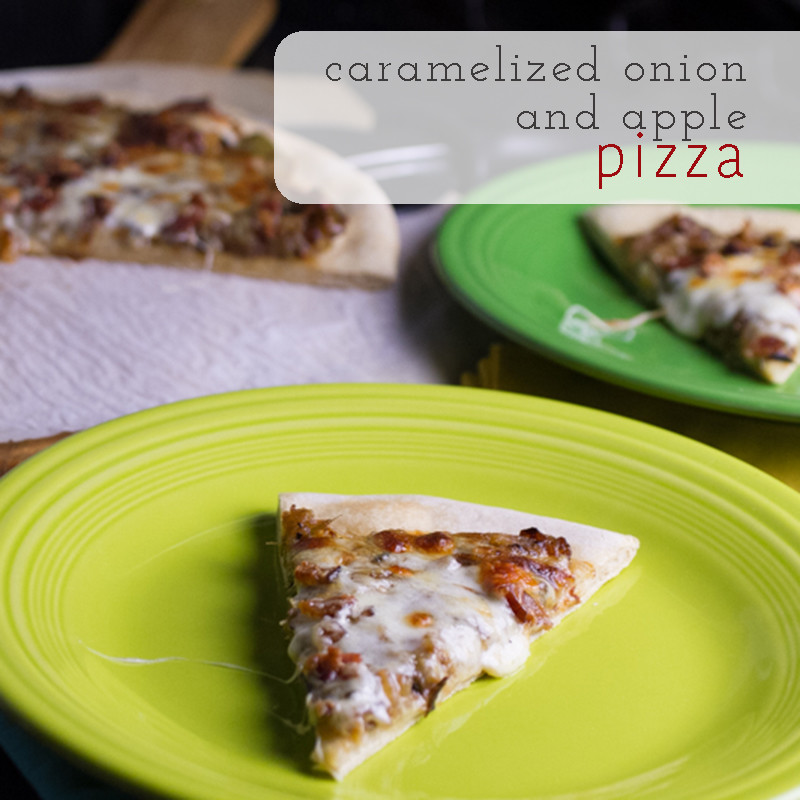 Apples on pizza may sound strange but I wouldn't lead you astray. This caramelized onion and apple pizza will change your perspective!   chattavore.com