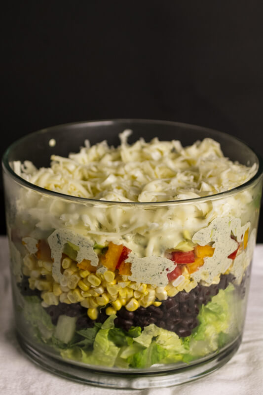 Southwestern seven-layer salad takes the concept of a traditional seven-layer salad and jazzes it up with Southwestern flavors! | chattavore.com