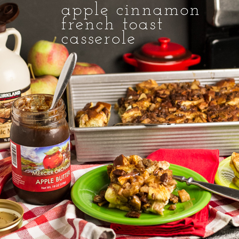 """Apple cinnamon French toast casserole is an easy-to-prepare make ahead breakfast with lots of familiar """"Fall"""" flavors! 