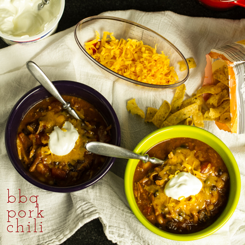 Easy shredded pork chili recipe