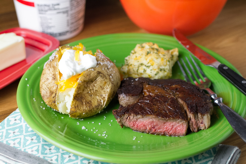 Steaks aren't exactly the easiest thing to cook, but I finally got it right with this perfect pan-seared steak. It's great for Valentine's Day, date night, or Tuesday night dinner!   recipe from chattavore.com