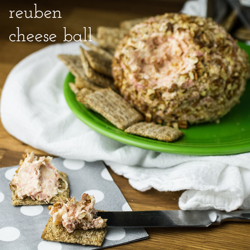 Reuben cheese ball is an amazing appetizer with all the flavors of a classic Reuben! | recipe from Chattavore.com