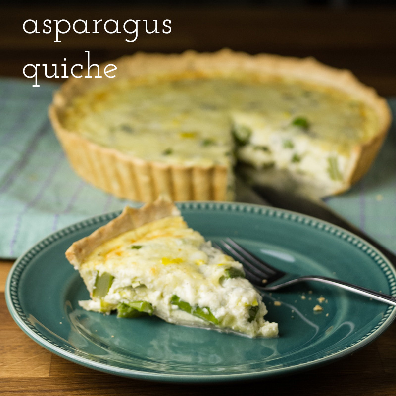 "Asparagus quiche is an easy and tasty dish that's perfect for breakfast, lunch, or dinner (or brunch!) and just screams ""Spring!!! 