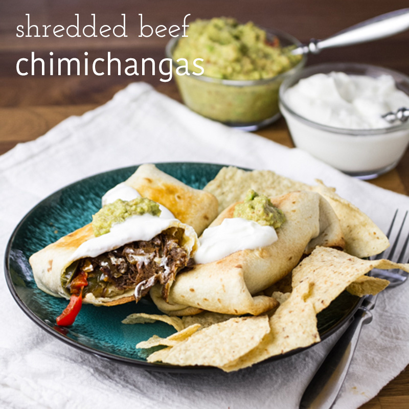 Baked chimichangas with shredded beef are an easy and delicious way to use up any leftover slow cooker pot roast you might have! | recipe from Chattavore.com