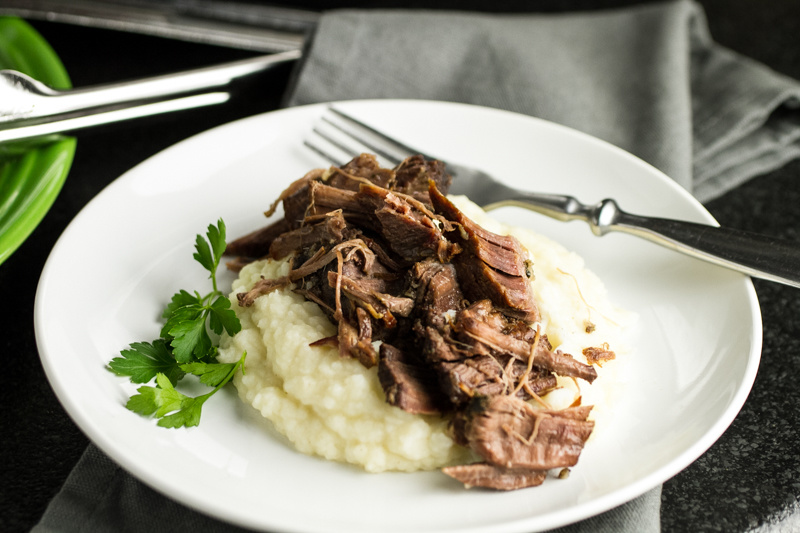 Slow cooker pot roast is a dinner classic. It's ready to slow cook in less then ten minutes, and it's ready when you get home from work! | recipe from Chattavore.com