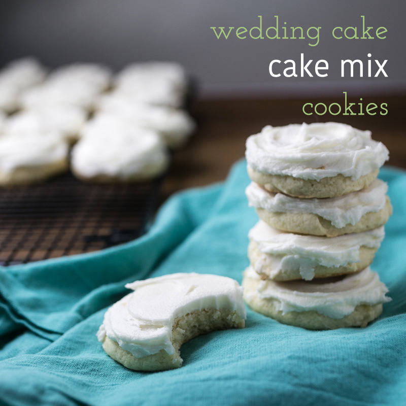 These Wedding Cake White Mix Cookies Are Sweet Ery And Almond Flavored