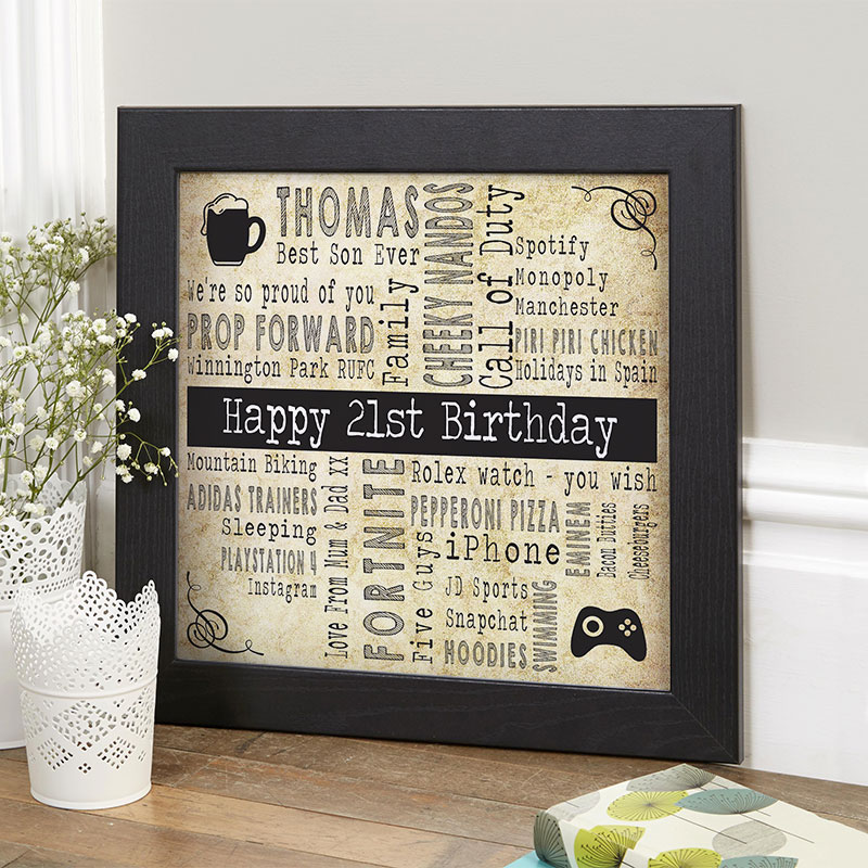 21st Birthday Personalised Gift Ideas Chatterbox Walls