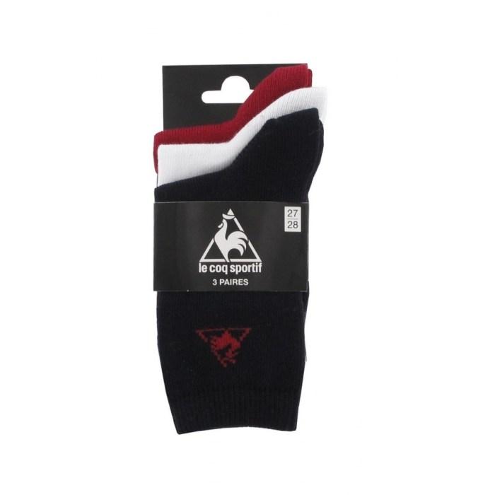 Lot de 3 paires de chaussettes avec logo Le Coq Sportif