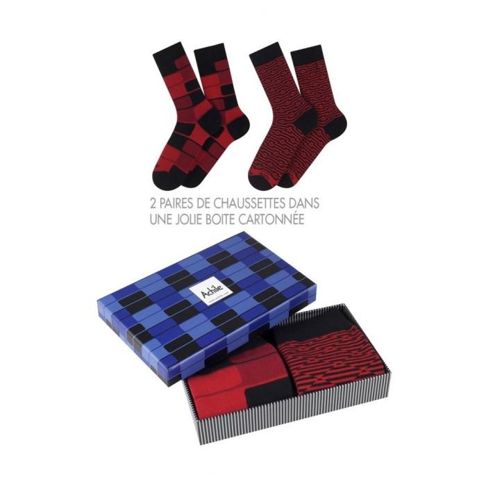 Coffret cadeau 2 paires de chaussettes Achile