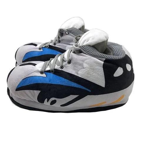 chausson sneakers gris bleu