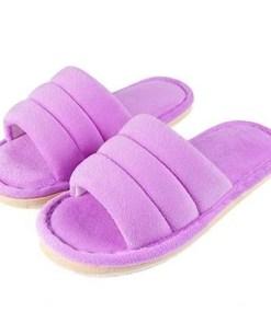 pantoufle peluche violet
