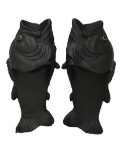 pantoufle poisson noir